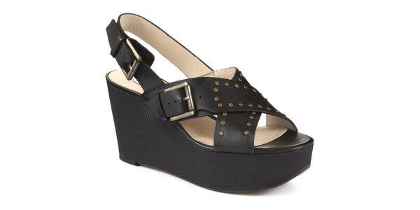 Dámské černé sandály na platformě Clarks