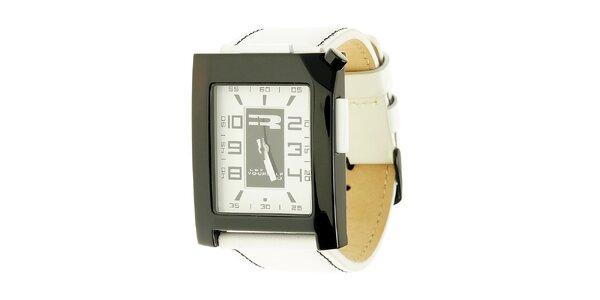 Unisexové černo-bílé analogové hodinky RG512