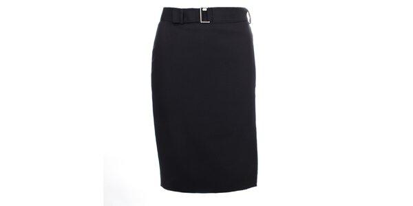 Dámská černá sukně s jemnými puntíčky Pietro Filipi