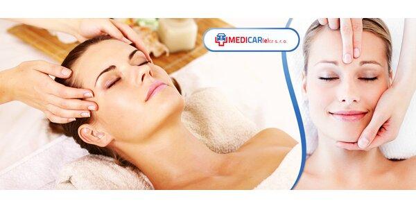 Kosmetická masáž nebo CHI Energy Lifting a mikromasáž očního okolí