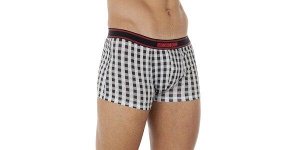 Pánské černo-bílé kostkované boxerky Antonio Miro