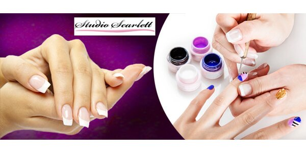 Krásné gelové nehty, lakování gel-lakem nebo manikúra P-Shine