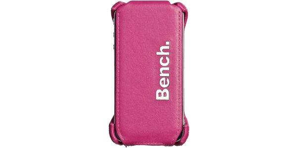Růžové kožené pouzdro na iPhone Bench