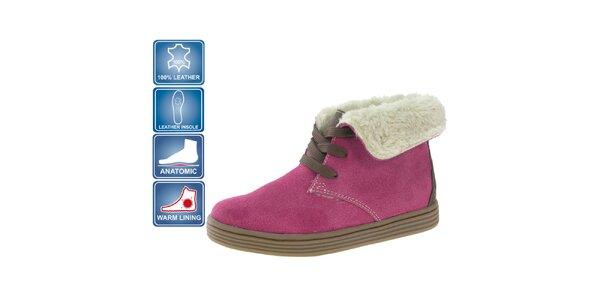 Dětské růžové semišové boty Beppi