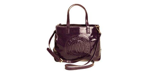 Dámská lesklá kabelka DKNY - fialová