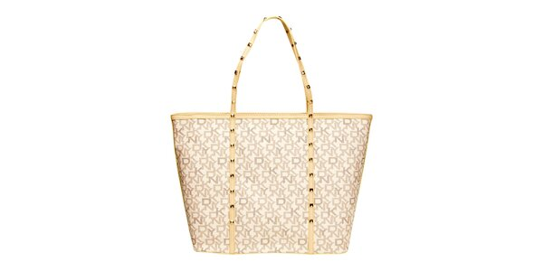 Dámská prostorná slonovinová kabelka DKNY