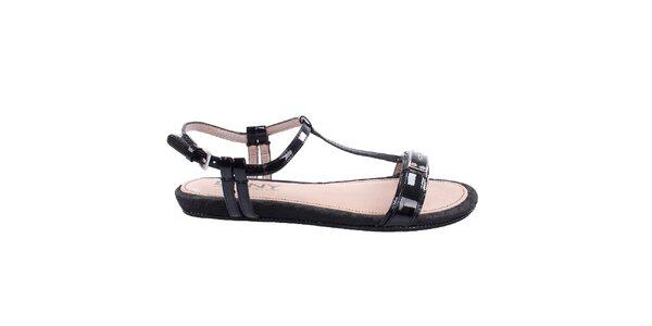 Dámské nízké černé sandálky DKNY