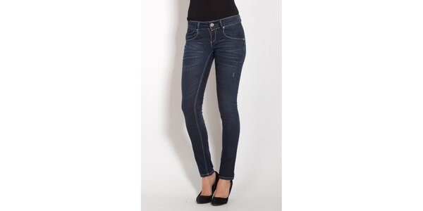 Dámské tmavě modré skinny džíny Lois s kamínky 3bc12eb3a6