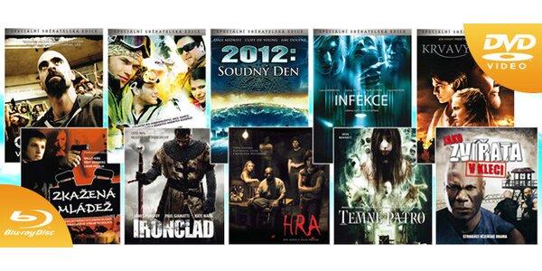 DVD či Blu-ray filmy za méně než 10 Kč!