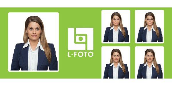 4 průkazové fotky z L-FOTO na Karlově náměstí