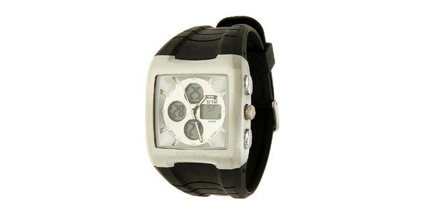 Unisexové černo-stříbrné hodinky RG512