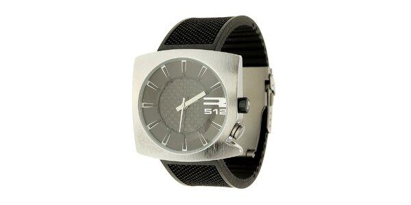 Unisexové černo-stříbrné analogové hodinky RG512