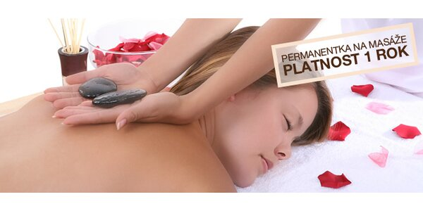 Roční permanentka na masáže