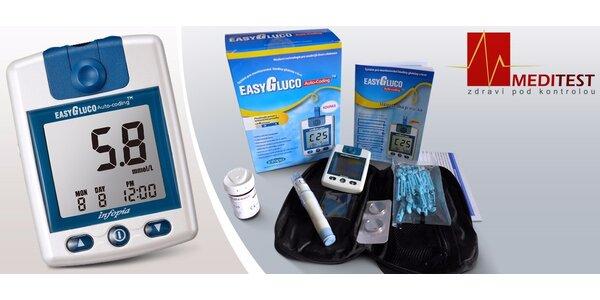 Měřič krevního cukru s testovacími proužky