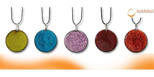 Nádherné 3 ks keramických náhrdelníků z burelové hlíny