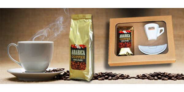 Lahodná mletá káva Arabica Coffee 100% Pure