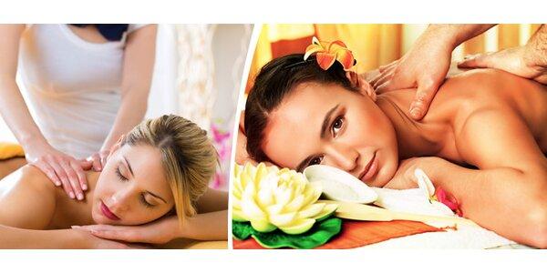 Klasická masáž zadní části těla v délce 65 minut