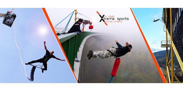 Extrémní bungee jumping z jeřábu nebo televizní věže