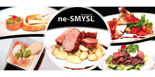 Smyslné menu pro dva v restauraci ne-SMYSL