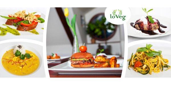 5chodové veganské menu pro dva