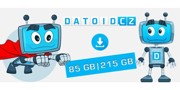 Kredit 85 GB či 215 GB na videa, hudbu a data z Datoid.cz