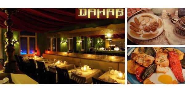 499 Kč za jídlo i pití hodnotě 1001 Kč v orientální restauraci Dahab!