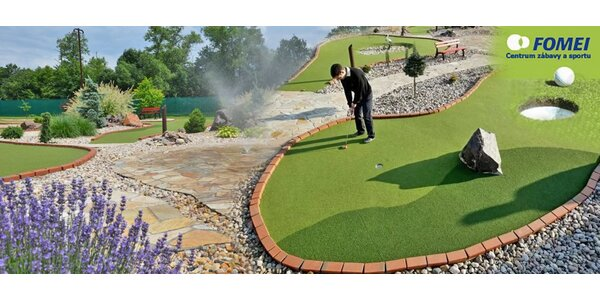 Hodinová hra Adventure golfu pro celou rodinu