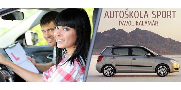 Autoškola - řidičský průkaz sk. B