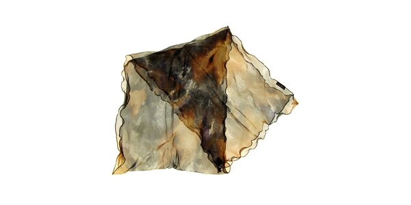 Dámský šedo-hnědý hedvábný šátek Fraas eff4e892b4