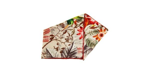 Dámský vzorovaný hedvábný šátek Fraas