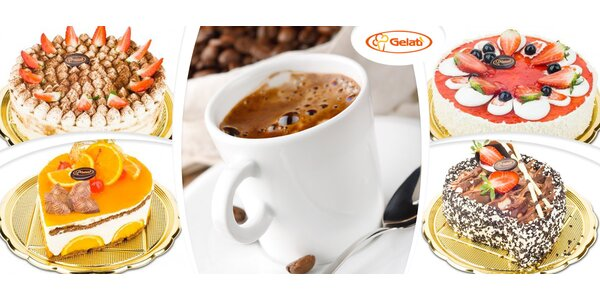 Káva a zákusek dle výběru v Gelati