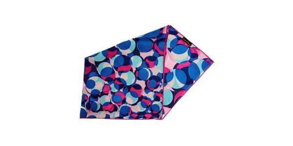 Dámský pestrý hedvábný šátek Fraas