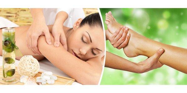 Relaxační a uvolňující masáž zad a chodidel v délce 60 minut