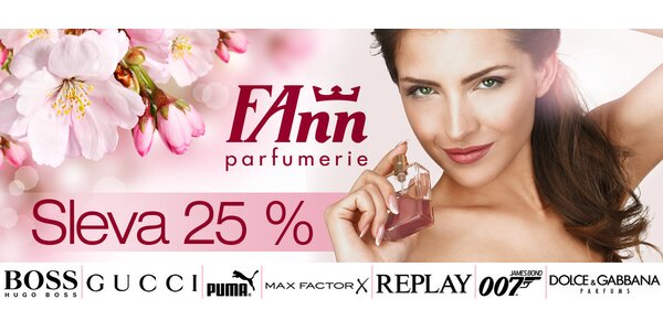 25% sleva do všech poboček FAnn parfumerie