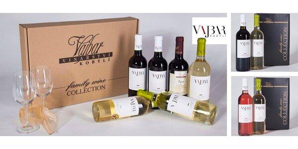 Dárkové sady vín z vinařství Vajbar