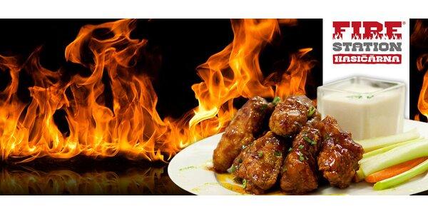 2x 400g porce kuřecích křídel Buffalo NY či saláty