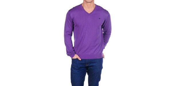 Pánský fialový svetr Hackett London