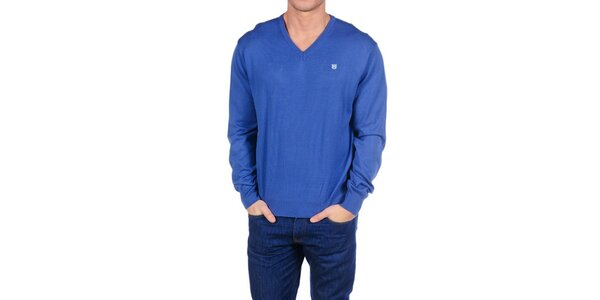 Pánský zářivě modrý svetr Hackett London
