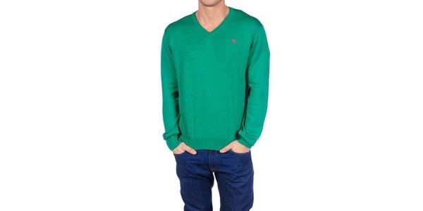 Pánský zelený svetr Hackett London