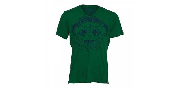 Zelené pánské tričko Lois Hector s potiskem