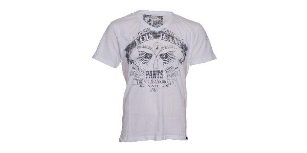 Bílé pánské tričko Lois Hector s potiskem