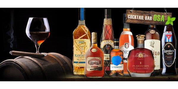 Ochutnávka vyzrálých rumů v koktejl baru Osa