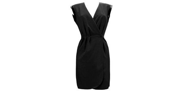Dámské černé zavinovací šaty Virginia Hill