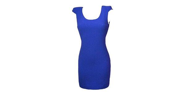 Dámské modré šaty s krajkou Virginia Hill
