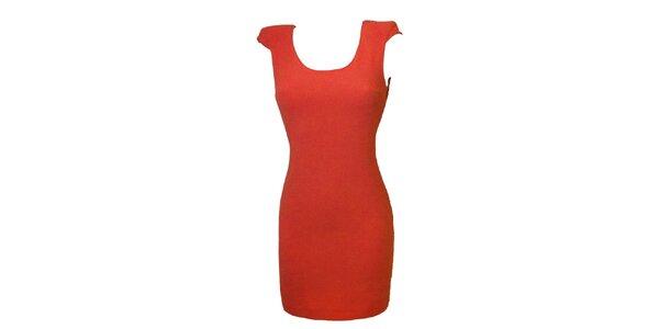 Dámské korálově červené šaty s krajkou Virginia Hill