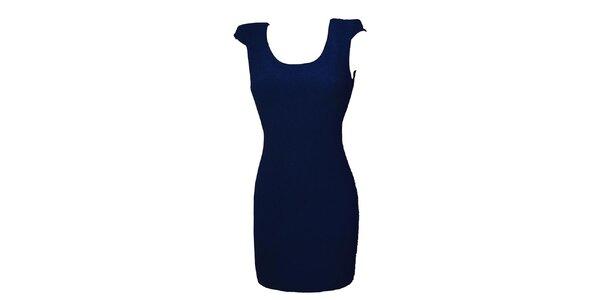 Dámské temně modré šaty s krajkou Virginia Hill