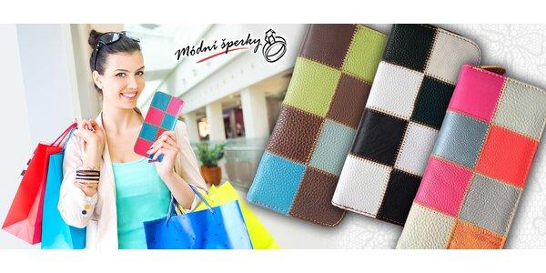 Moderní peněženky z barvené kůže