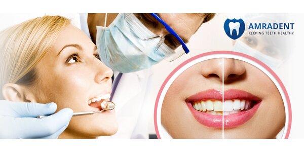 Dentální hygiena či bělení v klinice AmraDent