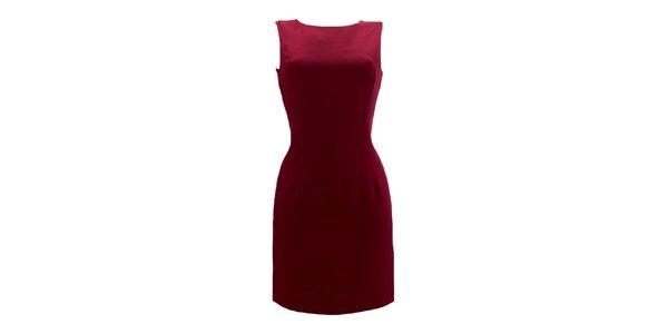 Dámské vínové pouzdrové šaty Virginia Hill