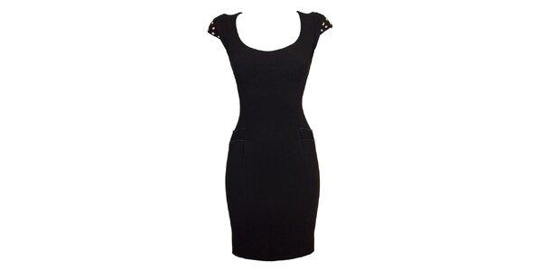 Dámské černé upnuté šaty Virginia Hill